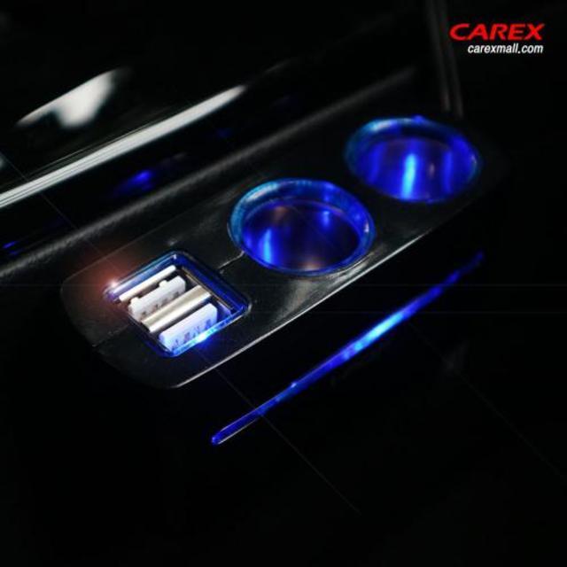 카렉스 아이팝 블루라인 듀얼 USB&2구소켓