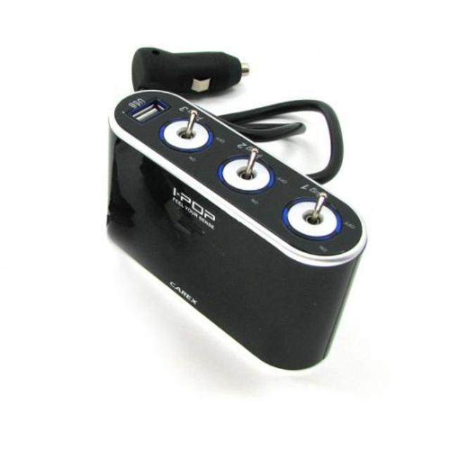 카렉스 아이팝 스위치 USB&3구소켓